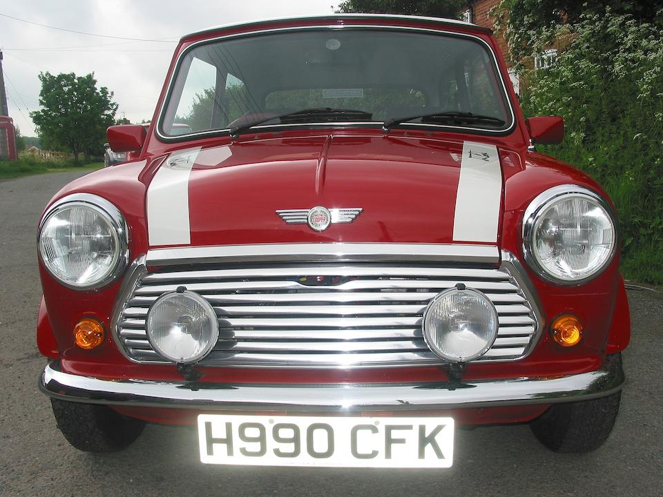 One owner, 98.2 miles from new,1990 Mini-Cooper RSP Limited Edition 'RSP' Saloon  Chassis no. SAXXNNAMBAD016957 Engine no. 12A2AF53100669