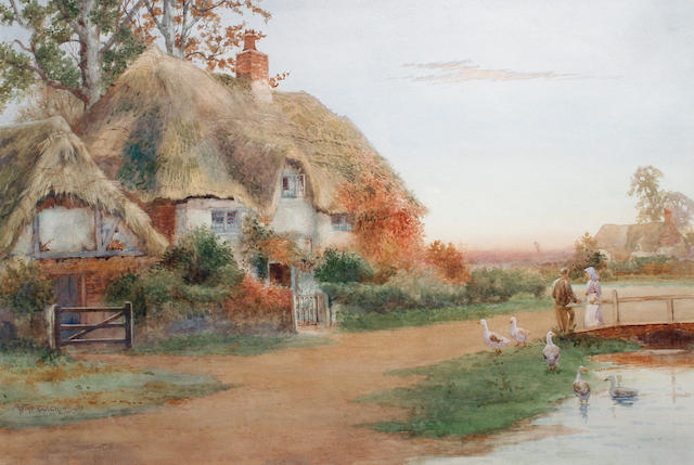 Arthur Stanley Wilkinson (British, circa 1860-circa 1930) The old homestead, Bedfordshire