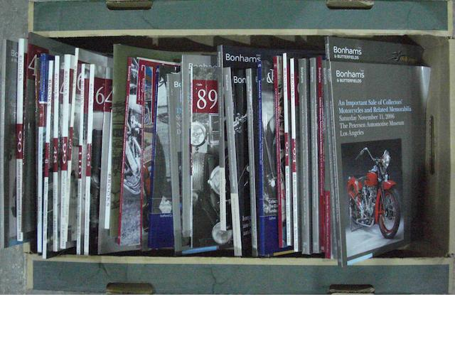 A quantity of Bonhams motorcycle auction catalogues,