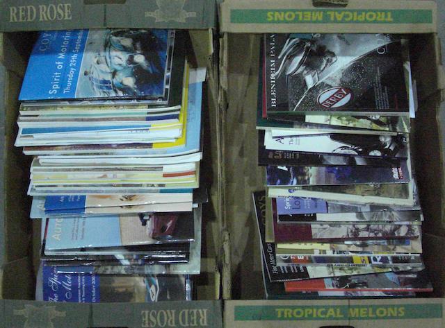 A quantity of auction catalogues,