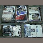 A large quantity of motoring brochures,