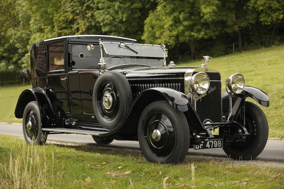 40 years in one ownership,1924 Hispano-Suiza H6B 32CV 6.6 litre Coupé de Ville  Chassis no. 11038 Engine no. 301065