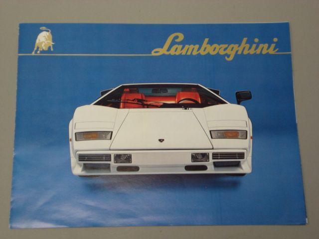 Bonhams A Lamborghini Countach Lp500s Sales Brochure