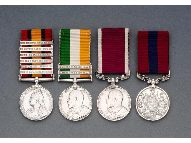 A Boer War D.C.M. group of four to Colour Sergeant R.Elder, Scots Guards,