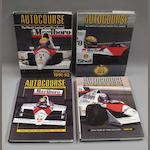 Four volumes of Autocourse,