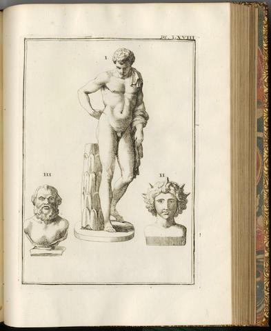 CAYLUS (ANNE CLAUDE PHILIPPE DE TOBIÈRES DE) Recueil d'antiquités égyptiennes, étrusques, grècques et romanes, 7 vol.