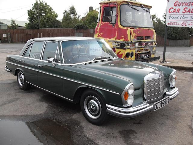 1967 Mercedes-Benz 250SE Saloon  Chassis no. 10801422046745 Engine no. 12998022023614