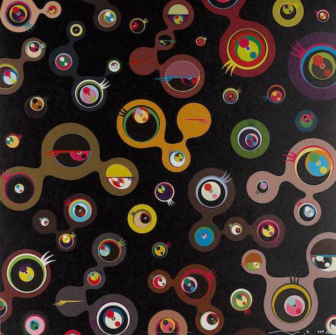Takashi Murakami (Japanese, born 1962) 'Jellyfish Eyes Black- 4', 2006