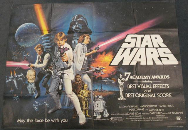 Two Star Wars related film posters, including: 2