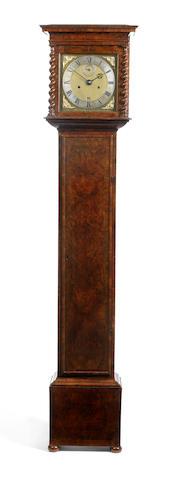 A late 17th century walnut longcase clock with 10 inch square dial Joseph Knibb, Londini Fecit