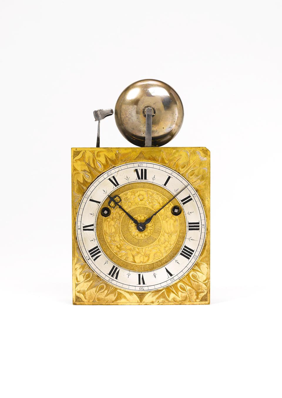 A fine and rare mid 17th century ebony veneered architectural turntable bracket clock James Cowpe at Ffox Hall (sic)