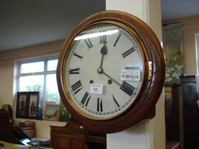 A 19th century German striking dial clock W & H