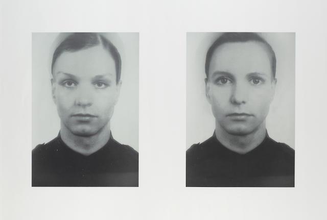 Thomas Ruff (German, 1958) 'Andere Doppelportraits I & II', 1995