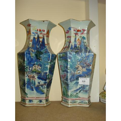 A pair of Chinese vases,