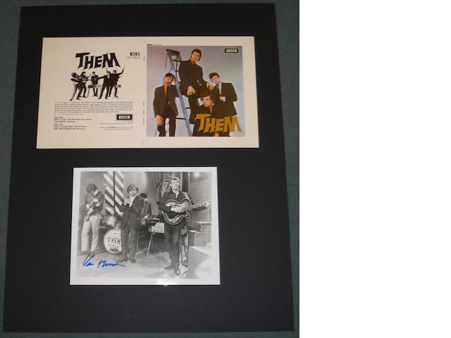 Them artwork and Van Morrison autograph,