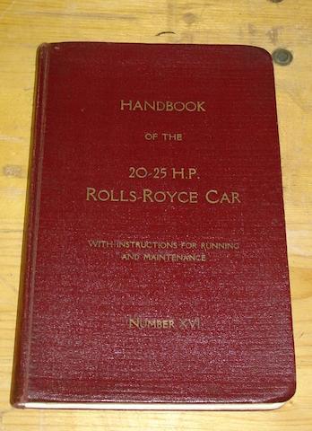 A Rolls-Royce 20/25 handbook,