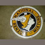 a National Benzole forecourt sign,