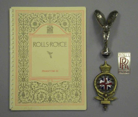 A lot of Rolls-Royce items,