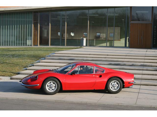 Formerly the property of legendary racing driver Hans Herrmann,1969 Ferrari Dino 246GT  Chassis no. 00742