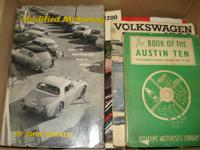 A quantity of miscellaneous motoring books,
