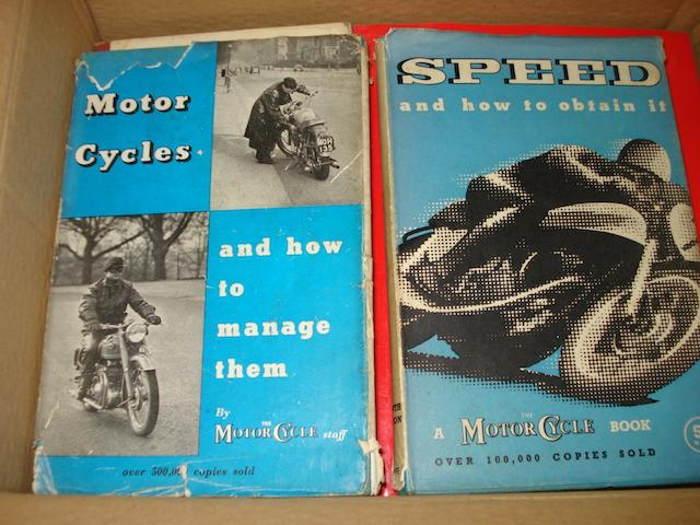 A selection of miscellaneous motorcycling books,