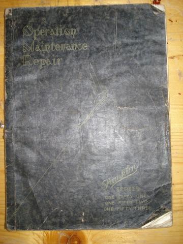 A Franklin Operating, Maintenance and Repair Manual, 1930,