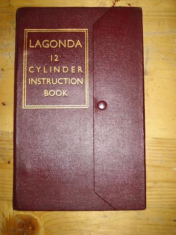 A Lagonda V12 Instruction Book.