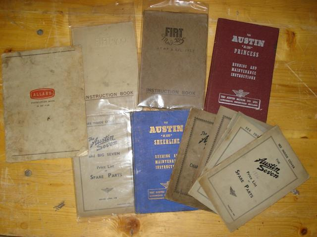 A quantity of handbooks,