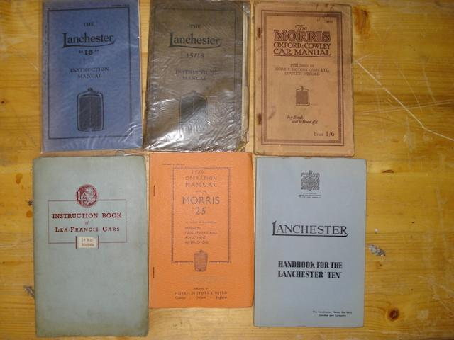 A quantity of  1920s-1950s instruction manuals,