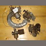 Two large SU carburettors,
