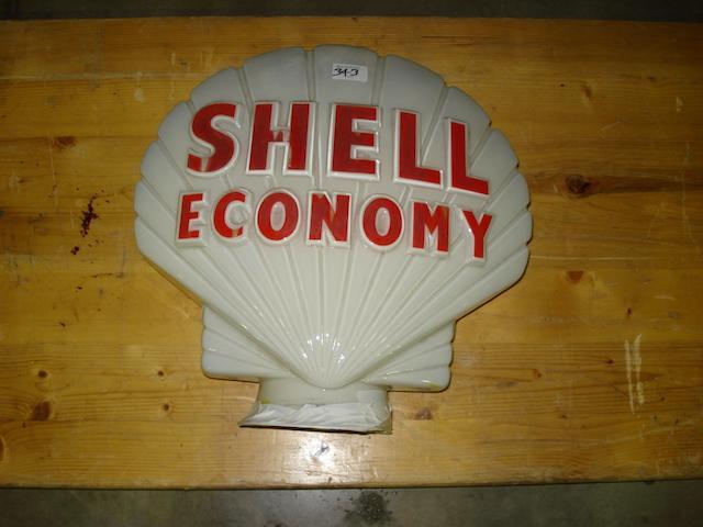 A Shell Economy petrol pump globe,