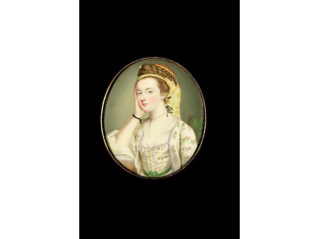 Gervase Spencer (British, circa 1715-1763) Susannah Beckford (née Love) (d.1803), dressed a la Turqu