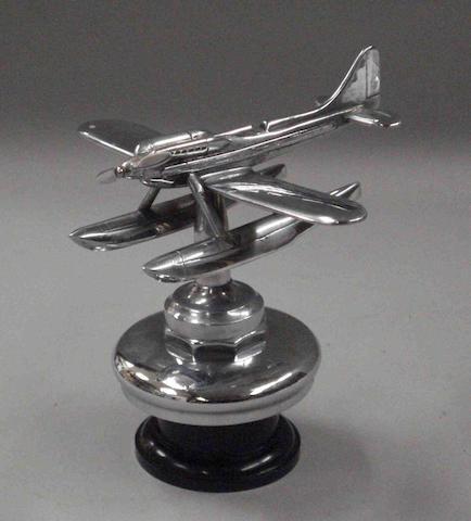 A Schneider S6B Seaplane mascot,