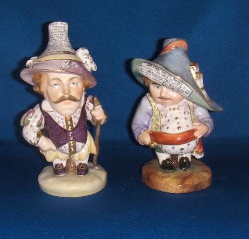 A pair of Royal Crown Derby Mansion House Dwarf figures 1982 and 1987
