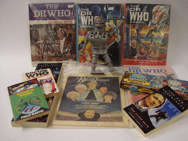 'Dr Who': merchandising, annuals and printed ephemera, qty