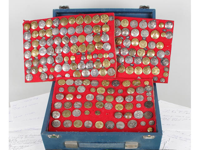 A very comprehensive collection of livery buttons, most 19th century