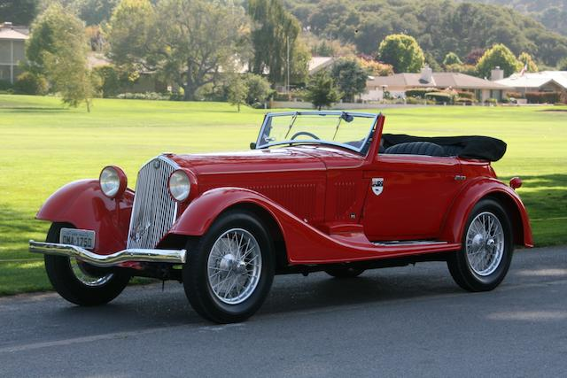 1933 Alfa Romeo 6C 1750 Sixth Series Supercharged Gran Sport Cabriolet  Chassis no. 121215037 Engine no. 121215037