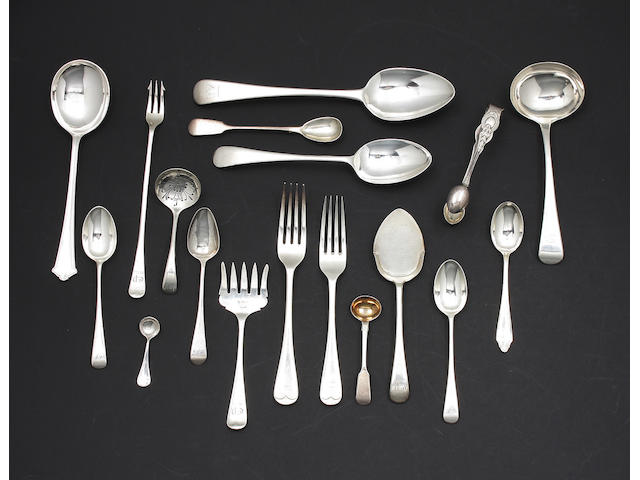 A set of twelve silver 'Old English' pattern dessert spoons By Atkin Brothers, Sheffield, 1934,  (qty)