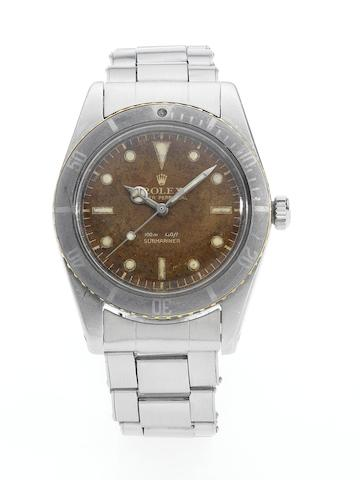 Rolex. A fine and rare stainless steel automatic wristwatch  Submariner, Ref:5508, Made in 1959