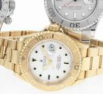 Rolex. An 18ct gold automatic bracelet watchYachtmaster, Ref:16628, Made in 1995