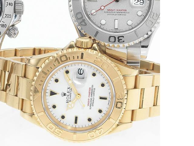 Rolex. An 18ct gold automatic bracelet watch Yachtmaster, Ref:16628, Made in 1995