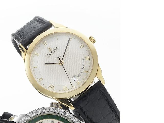Corum. An 18ct gold automatic centre seconds calendar wristwatch No.294.101.56, 1990's