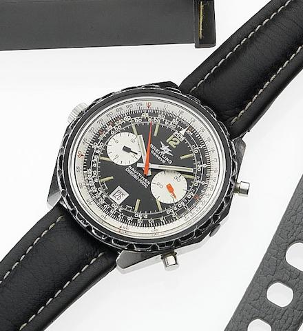 Breitling. An oversized stainless steel chronograph wristwatchNavitimer Chrono-Matic, 1970s