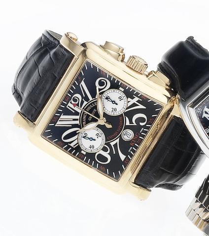 Franck Muller. A fine 18ct rose gold limited edition automatic wristwatch Cortez 10000 K CC Conquistador, No.51, Sold August 2006