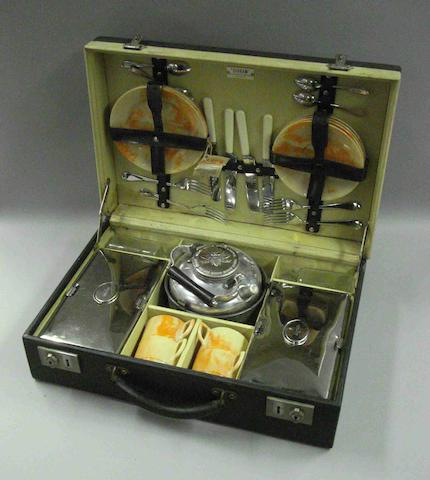 A four-person picnic set, by Sirram, 1920s,