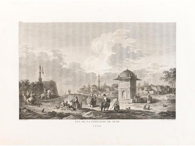 CHOISEUL-GOUFFIER (MARIE GABRIEL AUGUST FLORENT, comte de)] Voyage pittoresque de la Grèce, 2 vol. in 3