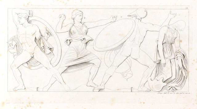WAGNER (GIOVANNI MARIA) Bassorilievi antichi de la Grecia o sia fregio del Tempio di Apollo Epicurio