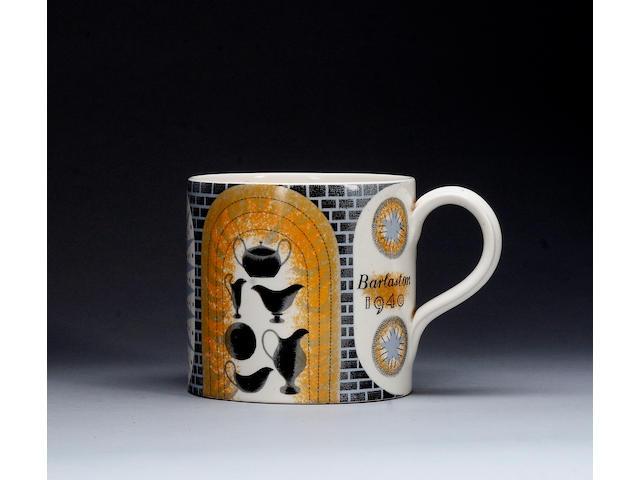 A 1940 Wedgwood mug by Eric Ravilious