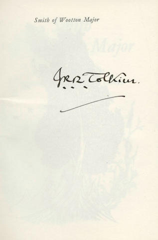 TOLKIEN (J.R.R.) Smith of Wootton Major, FIRST EDITION, SIGNED BY THE AUTHOR