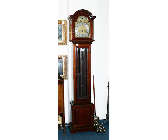 An early 20th century mahogany cased eight day longcase clock
